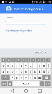 Android - Gmail - Lösenord