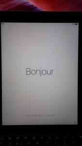iPad - Välkomstskärm