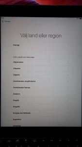 iPad - Välj region