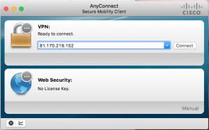 Cisco VPN - Huvudskärm
